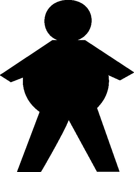462x592 Stickman Fat Clip Art