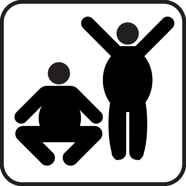 600x600 Two Fat Men Clip Art