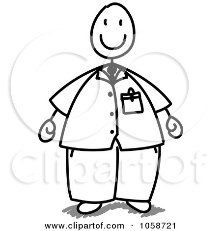 450x470 Royalty Free Vector Clip Art Illustration Of A Chubby Stick Man By