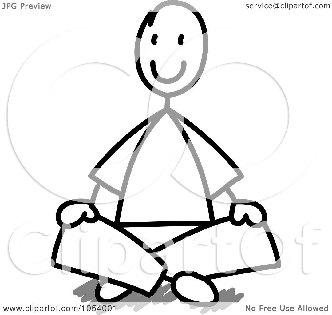 1080x1024 Royalty Free Vector Clip Art Illustration Of A Stick Man Sitting