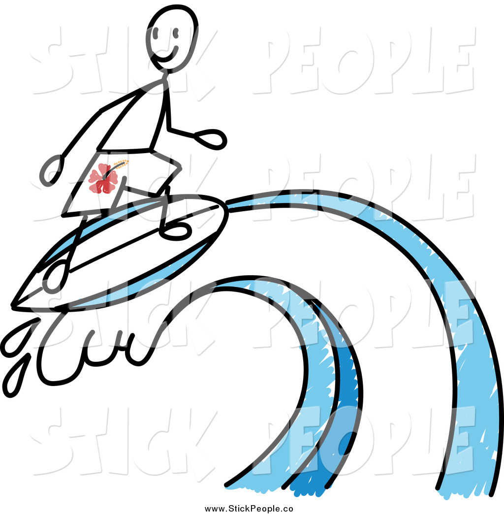 1024x1044 Vector Graphic Of A Stick Man Surfer On A Wave By Frog974