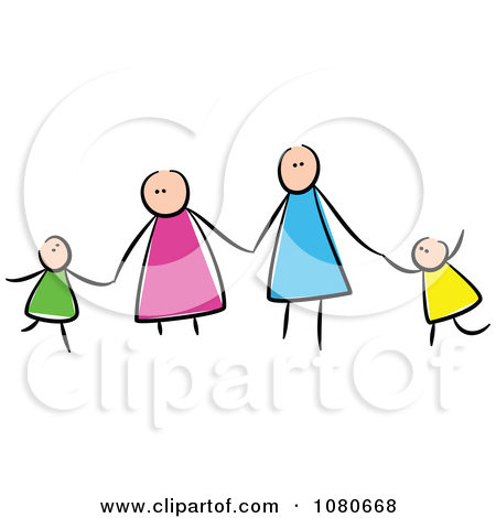 Stick People Holding Hands Clipart