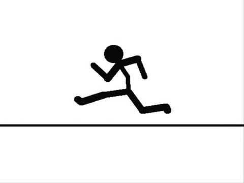 480x360 Running Stickman