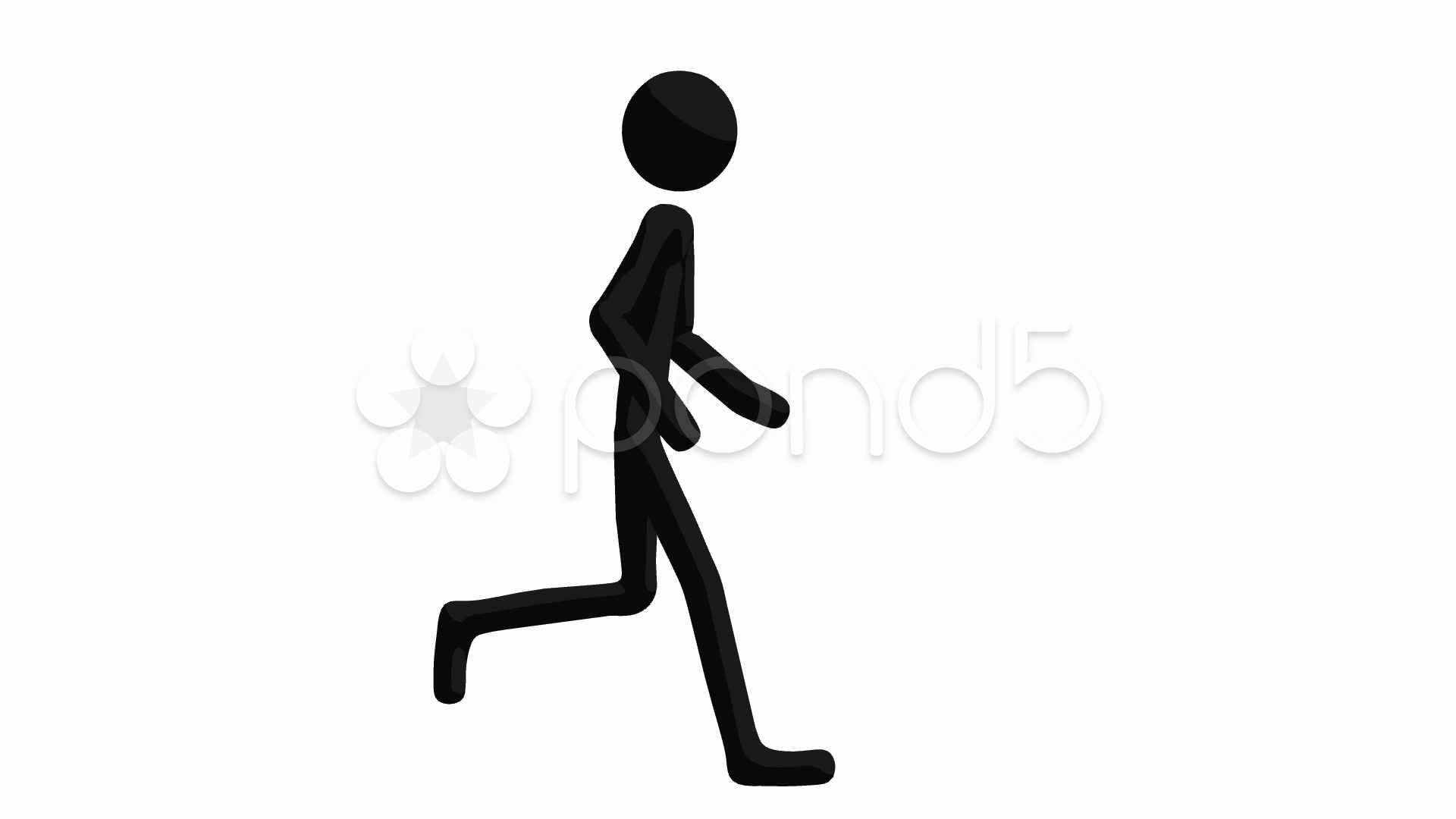 1920x1080 Stock Video Stickman Running ~ Buy Now