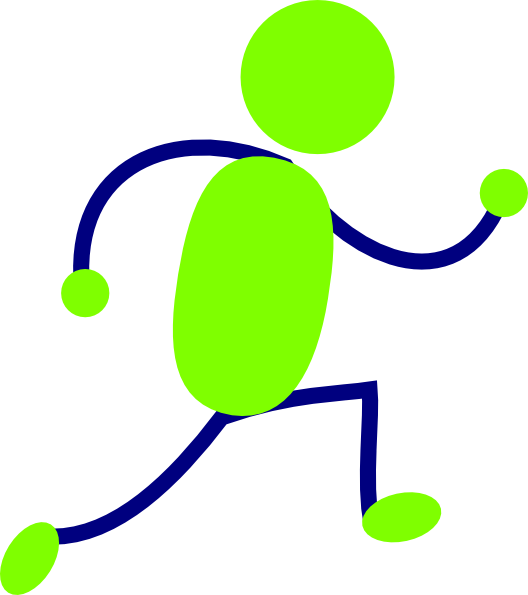 528x595 Cartoon Person Running