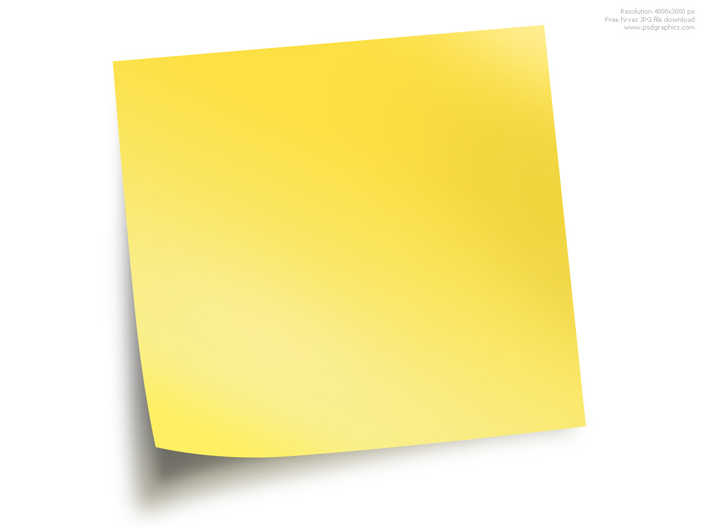 1024x768 Note Paper Clipart