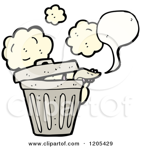 450x470 Stinky Trash Clipart