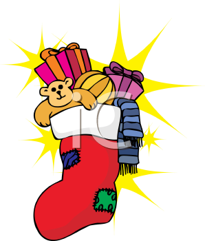 298x350 Royalty Free Christmas Stocking Clip Art, Christmas Clipart