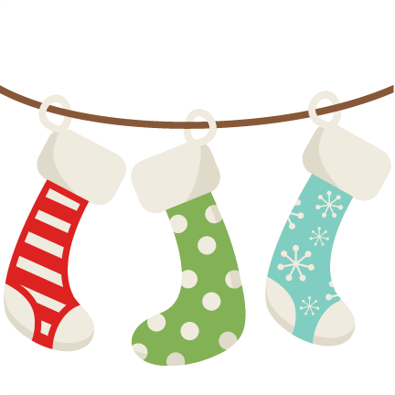 432x432 Cute Christmas Stocking Clip Art Merry Christmas Amp Happy New