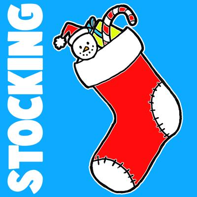 400x400 Christmas Clip Art Christmas Stocking Drawing Merry Christmas