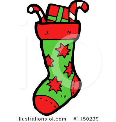 400x420 Christmas Stocking Clipart
