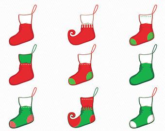 340x270 Christmas Stocking Clipart Hand Drawn Christmas Stocking