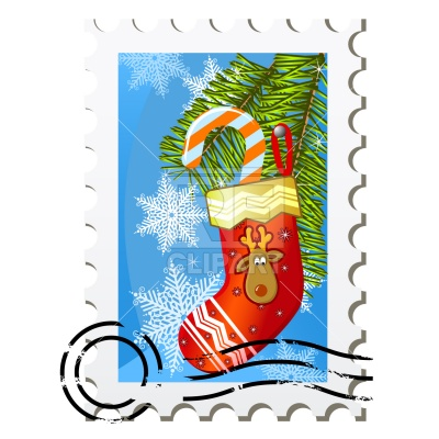 400x400 Christmas Stamp Royalty Free Vector Clip Art Image