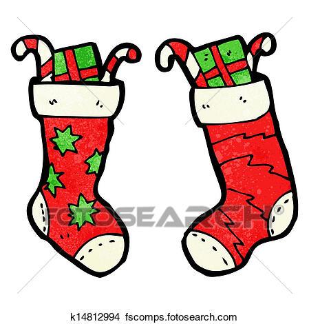 449x470 Clipart Of Cartoon Christmas Stockings K14812994