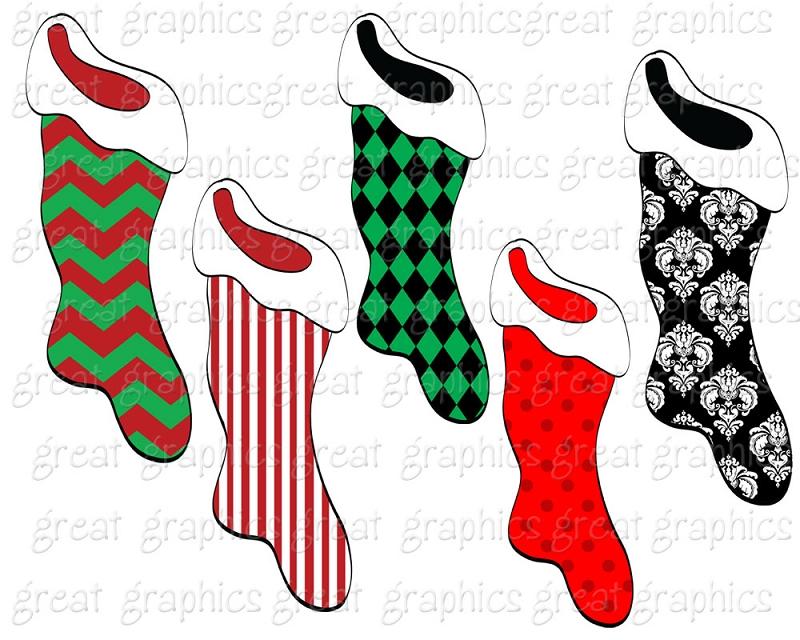 800x640 Printable Christmas Stockings Clipart