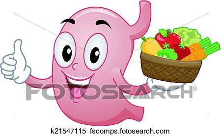 450x278 Clipart Of Healthy Stomach Mascot K21547115