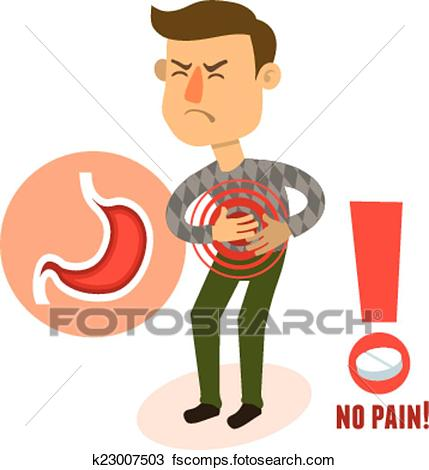 429x470 Clipart Of Sick Character Stomach Ache K23007503