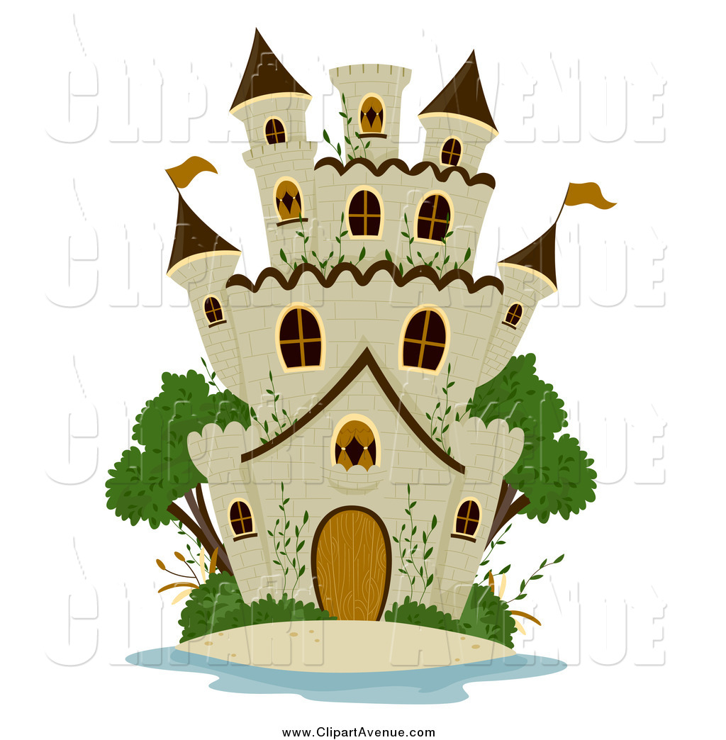 1024x1044 Avenue Clipart Of A Stone Castle And Green Trees By Bnp Design