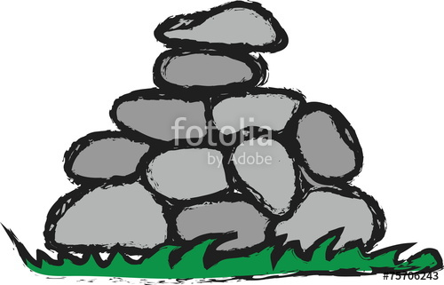 500x321 Stone Clipart Piled