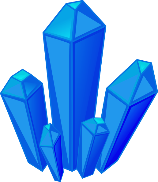 516x594 Blue Gem Stones Clip Art