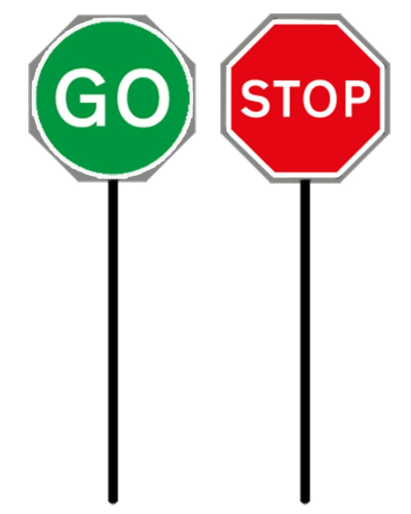 800x1000 Lollipop Stop And Go Traffic Signs