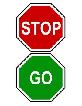 270x350 Redgreen Stop And Go Classroom Bathroom Door Hanger Sign Mini