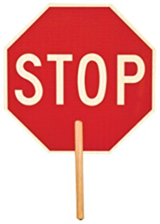 228x320 2 Sided Hand Held Stop Sign