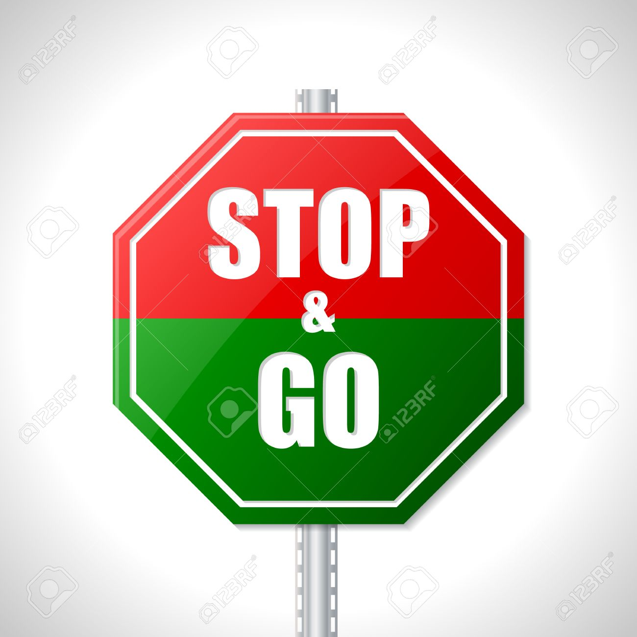 1300x1300 Stop And Go Traffic Sign For Racers Royalty Free Cliparts, Vectors
