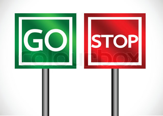 320x228 Stop And Go Sign In Illustration Stock Vector Colourbox