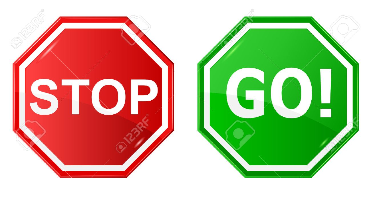 1300x740 Vector Illustration Of Sign Stop And Go Royalty Free Cliparts