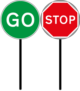312x357 Stop Go Tsc Signs