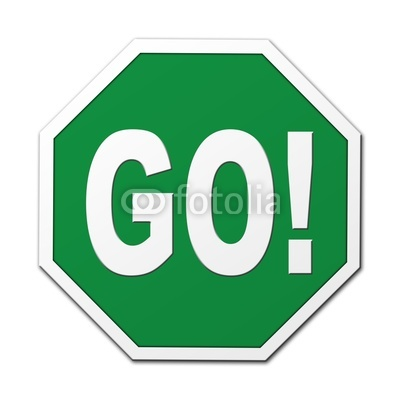 400x400 Stop And Go Signs Clipart