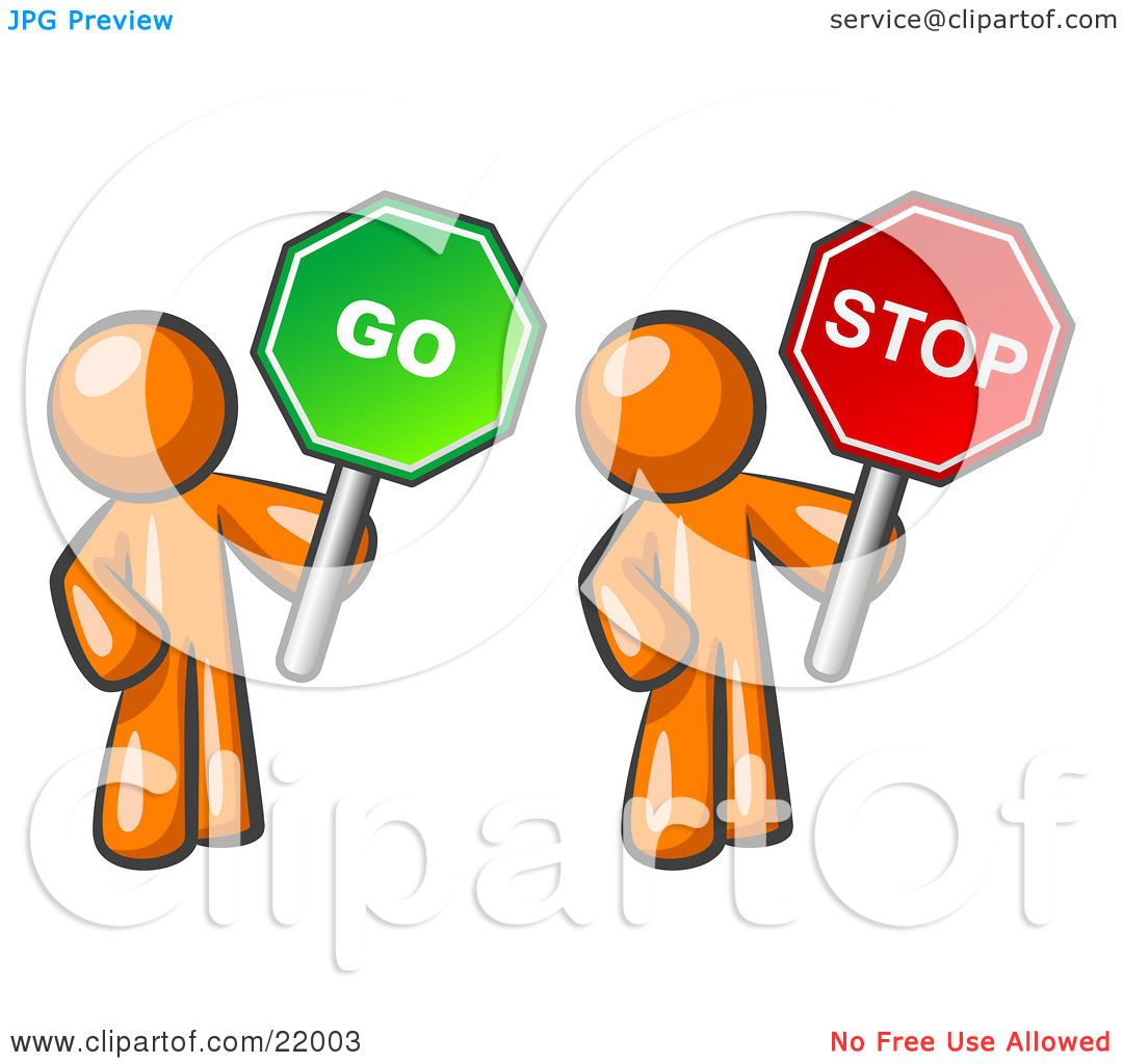 1080x1024 Clipart Picture Illustration Of Orange Men Holding Red And Green