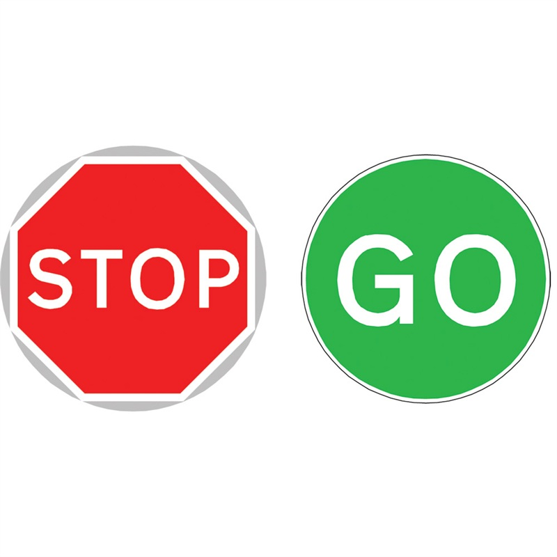 800x800 Stop And Go Signs Clipart Panda