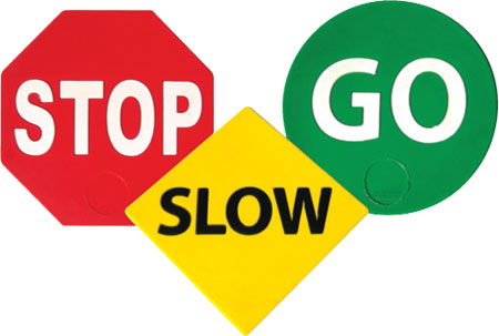 450x303 Stop And Go Signs Clipart