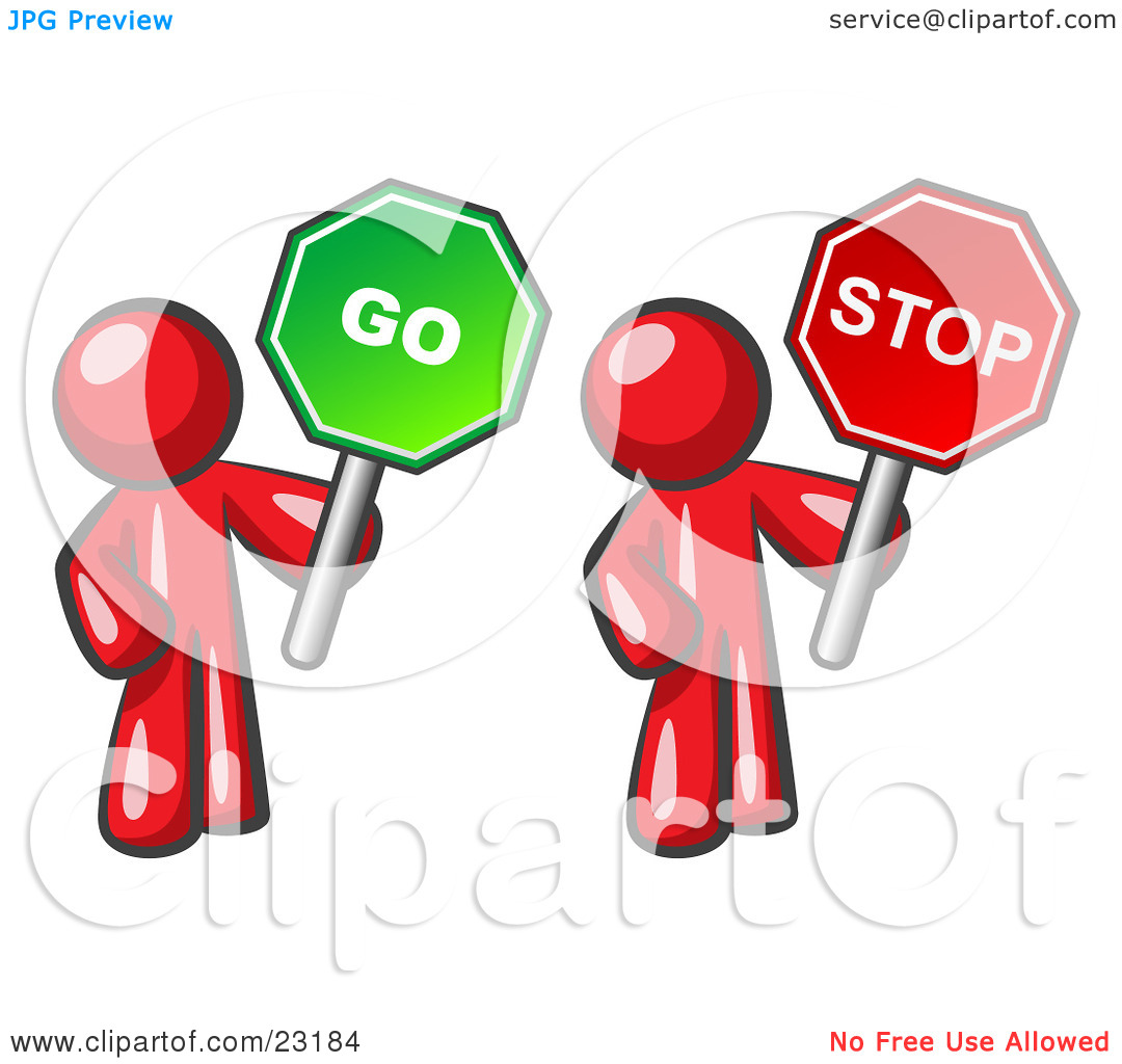 1080x1024 Stop And Go Signs Clipart