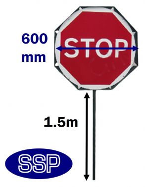 293x378 Stop Go Road Works Lollipop Style Sign On Pole Ssp Direct