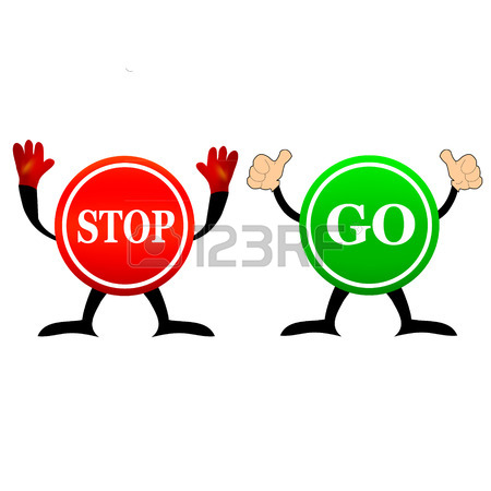 450x450 Vector Illustration Of Sign Stop And Go Royalty Free Cliparts