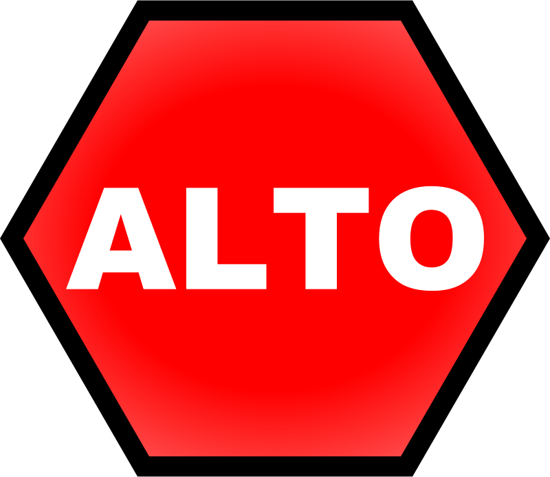 800x694 Clipart Stop Sign In Spanish