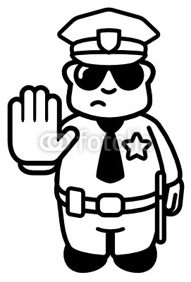 271x400 Stop Clipart Police Man