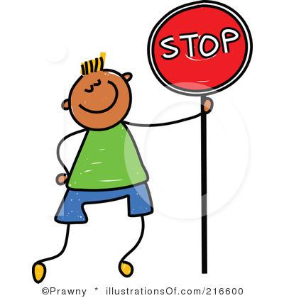 400x420 Cartoon Stop Sign Clipart