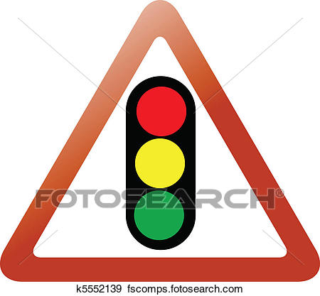 450x417 Clip Art Of Traffic Light Triangle Sign K5552139