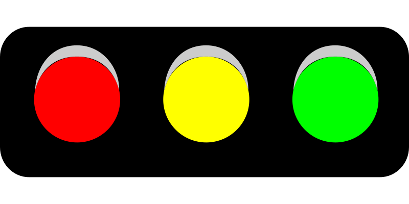 800x400 Stoplight Traffic Light Clipart Horizontal Clipartfest