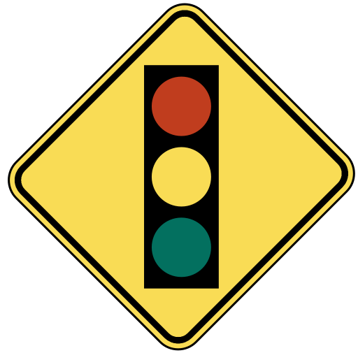 512x505 Traffic Light Ahead Clip Art Download