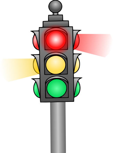 444x599 Traffic Light Clip Art