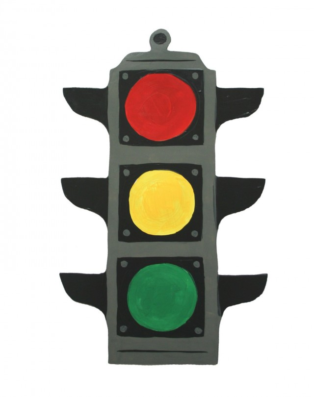 640x810 Traffic Light Clipart Coloring Page