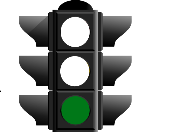 600x439 Traffic Light Clipart Green