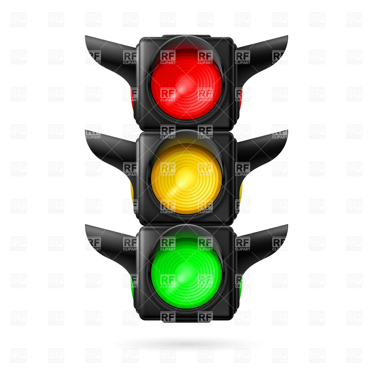 1200x1200 Traffic Light (Semaphore) Royalty Free Vector Clip Art Image