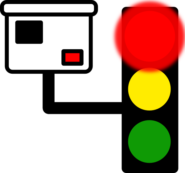 600x559 Red Light Camera Clip Art