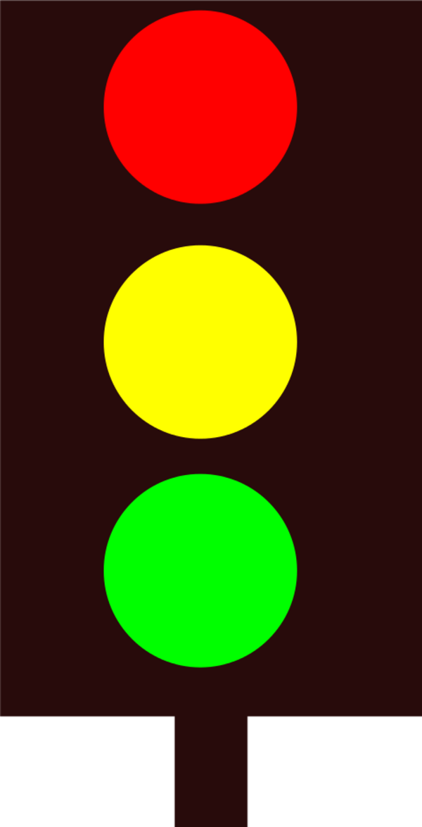 600x1175 Traffic Light Vector Clip Art